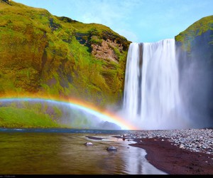 rainbow, nature, and water image