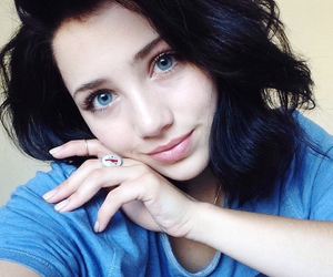 beautiful, girl, and blue image