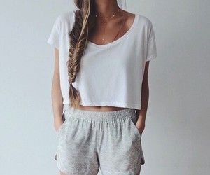 clothes, outfit, and shorts image