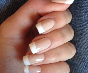 nails, french, and girl image