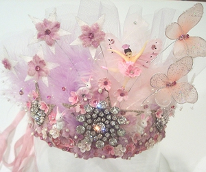 ballerina, crown, and ribbon image