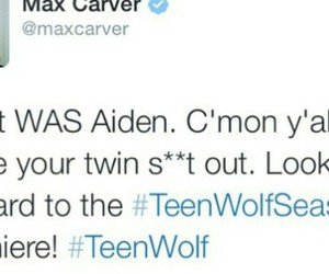 teen wolf, aiden, and max carver image