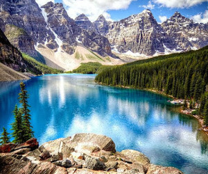 canada, lake, and travel image