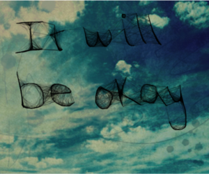 blue, pretty, and quote image