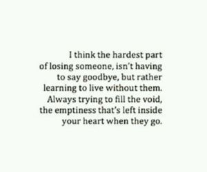 quotes, goodbye, and sad image