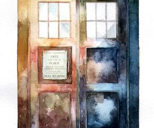 doctor who, tardis, and art image