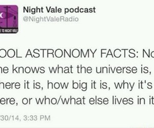 astronomy, podcast, and twitter image