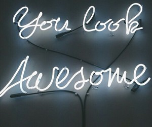 awesome, quote, and lights image
