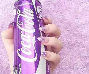 purple, nails, and coca cola image