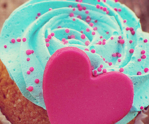cupcake, food, and heart image