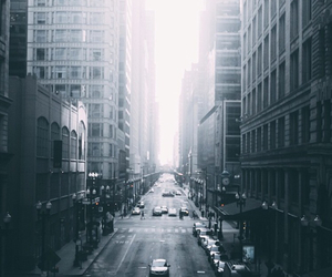 city, black and white, and grunge image