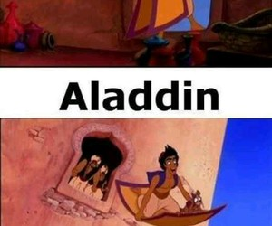 disney, funny, and aladdin image