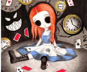 alice in wonderland, alice, and drawing image