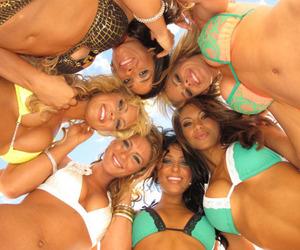 beach, smile, and bikini image