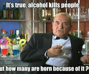 funny, alcohol, and quote image