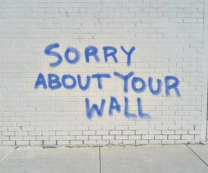 wall, sorry, and grunge image