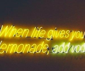 vodka, lemonade, and neon image