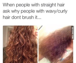 hair, funny, and curly image