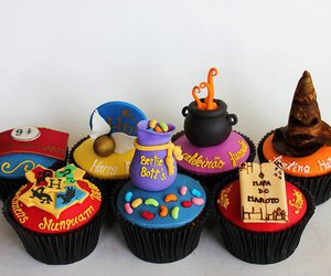 cupcake, harry potter, and food image