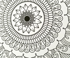 draw, drawing, and mandala image