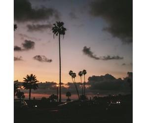 sunset, night, and sky image