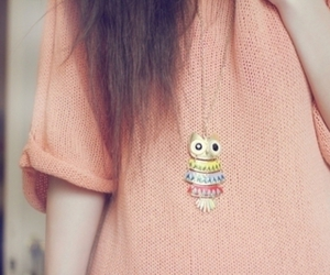 colorful, necklace, and girl image