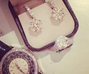 diamond, watch, and luxury image