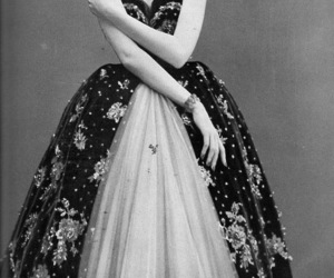 black and white, dress, and fashion image