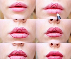 lips, diy, and make up image