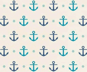 anchor, blue, and wallpaper image