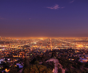 los angeles, city, and lights image