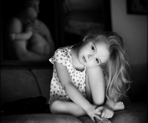 baby, black and white, and kid image