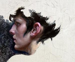 portrait, unfinished, and profile image