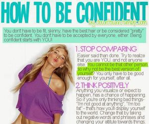 confident, motivation, and confidence image