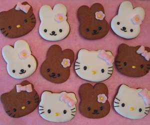 hello kitty, Cookies, and gingerbread image