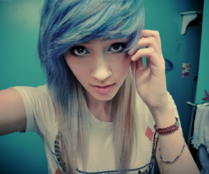 blue, hair, and nokturnal image