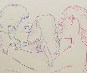 art, bisexual, and bisexuality image