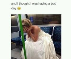 sad, bad day, and wedding image
