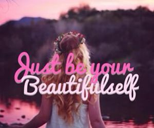 girl, pink, and quote image