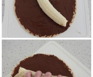 banana, chocolate, and delicius image