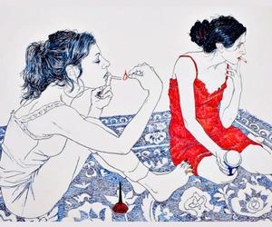 art, draw, and smoke image