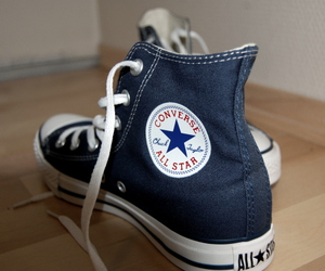 all star, converse, and dark blue image