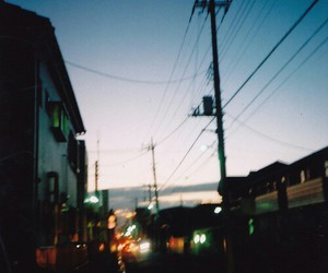 blue, blurry, and streets image