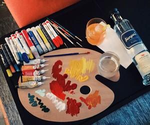 art, paint, and paint palette image