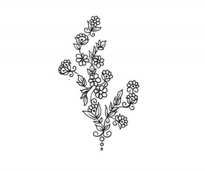 accessory, floral, and illustration image