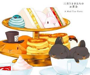 anime, bunny, and cake image