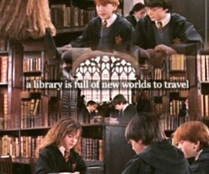books, life, and potter image
