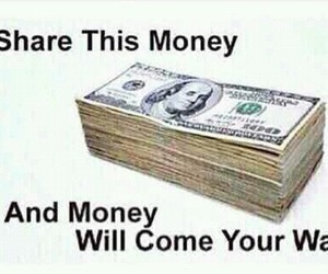 money and share image