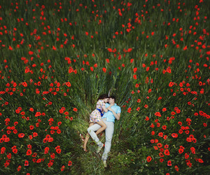 flowers, love, and couple image