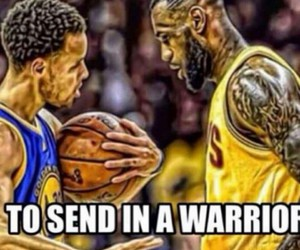 LeBron James and stephen curry image
